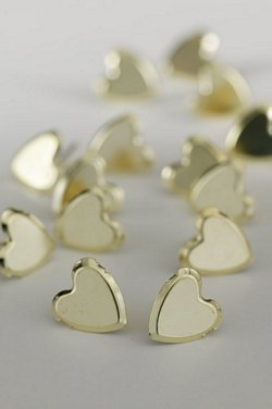 LARGE PLAIN HEARTS GOLD