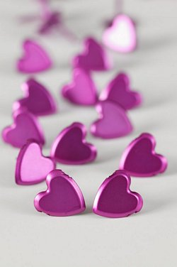 LARGE PLAIN HEART PINK