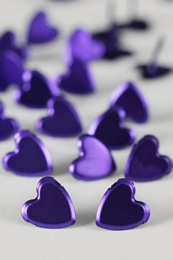 LARGE PLAIN HEART PURPLE