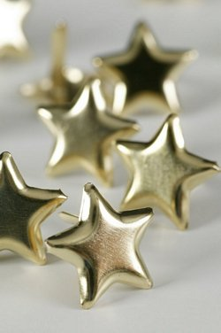 GOLD STAR STUDS LARGE