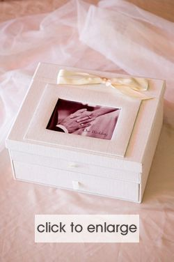 Ivory Silk Wedding Keepsake Chest