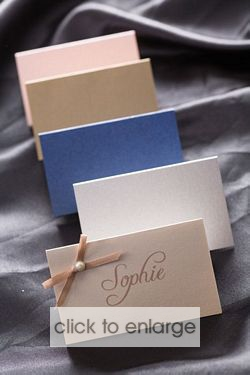 Place Cards - 5.5cm x 9cm folded - pk 25