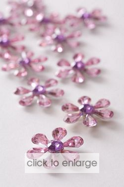 Large Pink Flower Embellishments