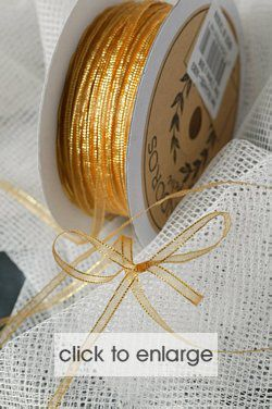 ANTIQUE GOLD ORGANZA WITH GOLD EDGE 3.5MM