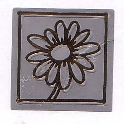 Gold Daisy on Silver