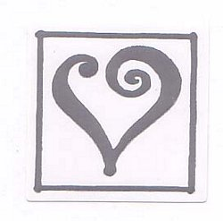 Silver Single Heart on White
