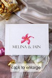 Frangipani Delight Invitation