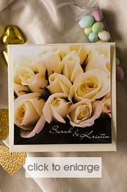 Cream Rose Invitation