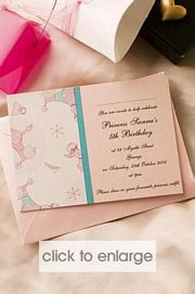 Princess Poodle Wedding Invitation