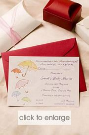 Umbrellas Wedding Invitation