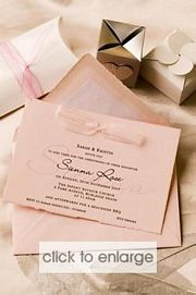Powder Pink Wedding Invitation