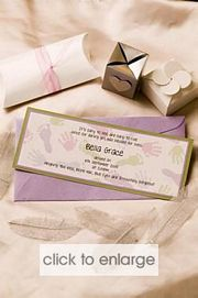Baby Prints Wedding Invitation