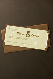 Wine and Dine Wedding Invitation