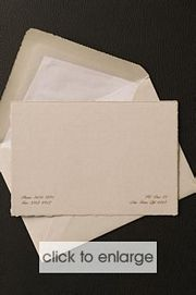 CARD - Grey with deckled edge. Wedding Invitation
