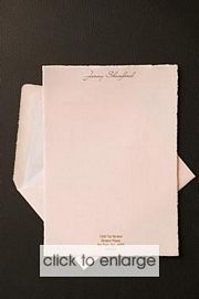PAPER - Pink with deckled edge Wedding Invitation