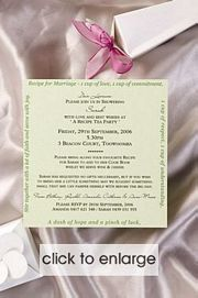 Recipe for Marriage Wedding Invitation