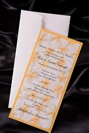 Calypso Wedding Invitation