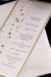 Champagne Gold Wedding Invitation