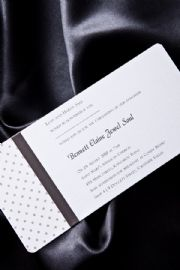 Silver Polka Wedding Invitation